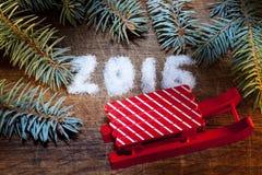 Buon anno 2016 scritto zucchero Fotografia Stock Libera da Diritti