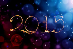 Buon anno - stella filante 2015 Fotografia Stock