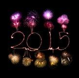 Buon anno - stella filante 2015 Fotografie Stock