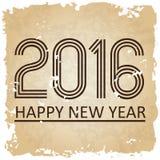 Buon anno 2016 sui vecchi precedenti di carta eps10 Fotografie Stock Libere da Diritti