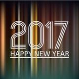 Buon anno 2017 sul fondo eps10 delle linee notturne di colore scuro Fotografie Stock