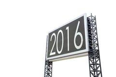 Buon anno 2016 sul grande bordo del segno Fotografia Stock Libera da Diritti