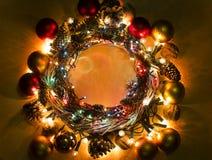 Buon anno una struttura della corona di Buon Natale Immagine Stock Libera da Diritti