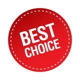 Buon autoadesivo choice Royalty Illustrazione gratis