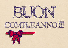 Buon compleanno 愉快的生日 库存照片