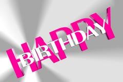 buon compleanno 3D Immagine Stock Libera da Diritti