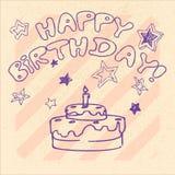 Buon compleanno 16 Fotografie Stock Libere da Diritti