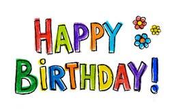 Buon compleanno! Fotografia Stock Libera da Diritti