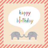 Buon compleanno card1 accogliente Fotografie Stock