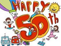 Buon compleanno - cinquantesimo Fotografia Stock