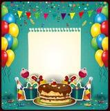 Buon compleanno con un foglio di carta Fotografia Stock