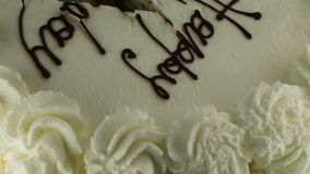 Buon compleanno del dolce stock footage