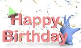 Buon compleanno del testo Fotografia Stock