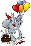 Buon compleanno dell'elefante illustrazione vettoriale
