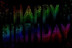 Buon compleanno dell'insegna al neon Immagine Stock Libera da Diritti
