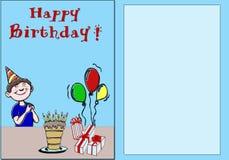 Buon compleanno della scheda illustrazione vettoriale