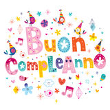 Buon compleanno Happy birthday in Italian Royalty Free Stock Photos
