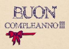 Buon compleanno. happy birthday Stock Photo