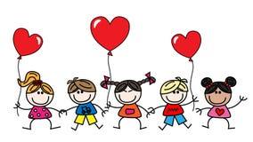 Buon compleanno o giorno di biglietti di S. Valentino Immagini Stock Libere da Diritti