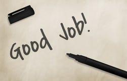 Buon concetto di Job Outstanding Perfect Satisfying Success Immagini Stock