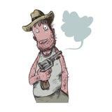 Buon cowboy caricature Immagine Stock