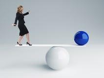 Buon equilibrio Fotografie Stock