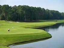 Buon giorno di golf Fotografia Stock
