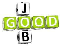 Buon Job Crossword Fotografie Stock