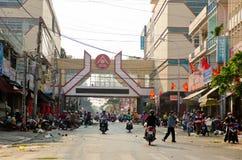 Buon Me Thuot Market. A market of Buon Ma Thuot city, Daklak, Vietnam royalty free stock photo