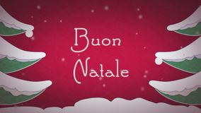 Buon Natale stock video footage