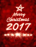Buon Natale 2017 Fotografia Stock Libera da Diritti