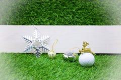 Buon Natale al giocatore di golf Immagine Stock