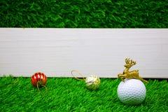 Buon Natale al giocatore di golf Fotografia Stock Libera da Diritti