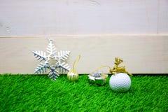 Buon Natale al giocatore di golf Immagine Stock Libera da Diritti
