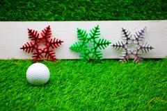 Buon Natale al giocatore di golf Immagini Stock Libere da Diritti