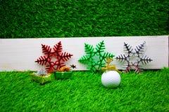 Buon Natale al giocatore di golf Immagini Stock