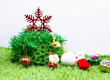 Buon Natale al giocatore di golf Fotografie Stock