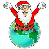 Buon Natale al mondo illustrazione vettoriale