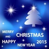 Buon Natale blu Immagini Stock