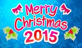 Buon Natale blu che accoglie Art Paper Card Fotografia Stock