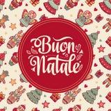 Buon Natale Bożenarodzeniowy szablon Zdjęcia Royalty Free