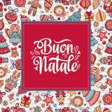 Buon Natale Bożenarodzeniowy szablon Fotografia Stock