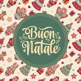 Buon Natale Bożenarodzeniowy szablon Obraz Royalty Free
