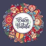 Buon Natale Bożenarodzeniowy szablon Zdjęcie Royalty Free
