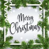 Buon Natale calligrafico che accoglie cartolina royalty illustrazione gratis