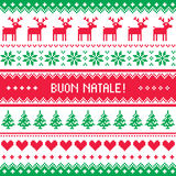 Buon Natale card - scandynavian christmas pattern Stock Images
