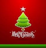 Buon Natale che segna albero con lettere verde royalty illustrazione gratis