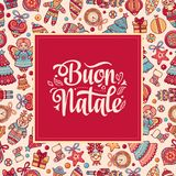 Buon Natale. Christmas template. Royalty Free Stock Photography
