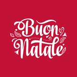 Buon Natale. Christmas template. Royalty Free Stock Images