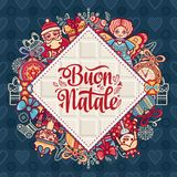 Buon Natale. Christmas template. Royalty Free Stock Photo